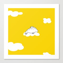 Flying Manatee by Amanda Jones Canvas Print