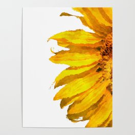 Simply a sunflower Poster