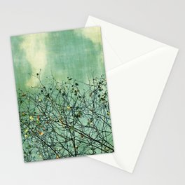Green Nature vintage Stationery Cards