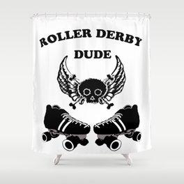 Roller Derby Dude Shower Curtain