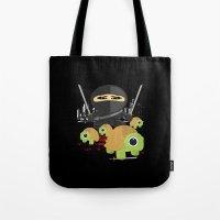 ninja turtles Tote Bags featuring Ninja Turtles by Adamzworld