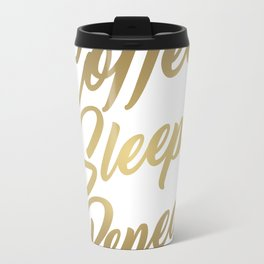Coffee Sleep Repeat. Travel Mug