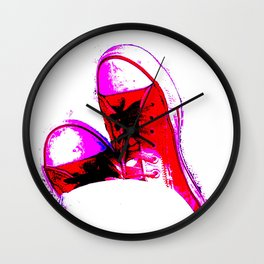 Red Trainers Wall Clock