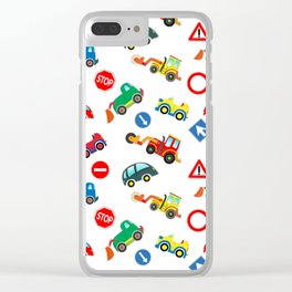 Kid cars, car and machine, tractor Clear iPhone Case