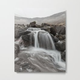 Foggy mountain stream Metal Print