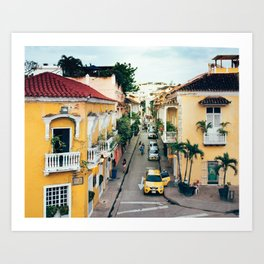 Colonial Architecture in Cartagena Art Print
