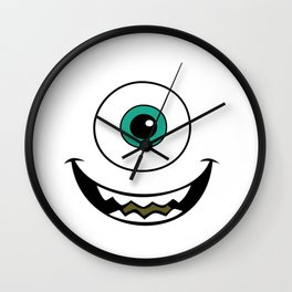 monters inc art mike wazowski Wall Clock