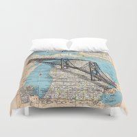 michigan Duvet Covers featuring Michigan by Ursula Rodgers
