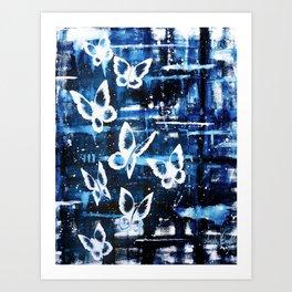 Winter Butterfly Art Print