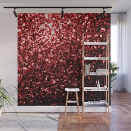 Beautiful Glamour Red Glitter sparkles Wall Mural