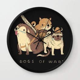 the dogs of war Wall Clock