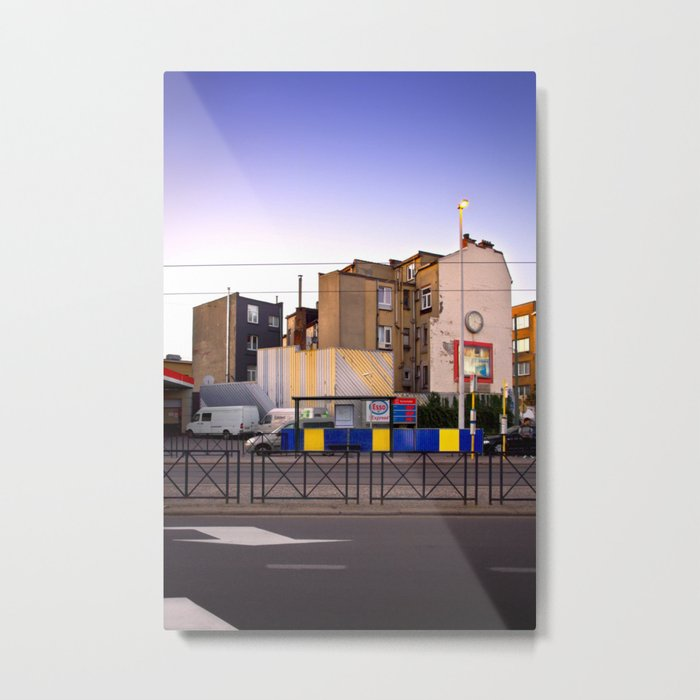 Sunset City Lights, Architecture Photography Metal Print