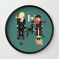 legolas Wall Clocks featuring Legolas & Gimli by LOVEMI DESIGN