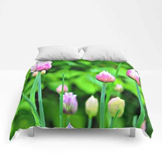 Flowering Chives Comforters