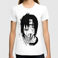sasuke T-shirts featuring Sasuke and Itachi - Naruto by SEANLAR94