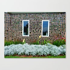 Bottle House Wall Canvas Print