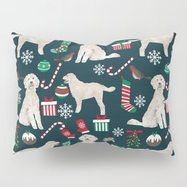 Golden Doodle unique christmas gifts for dog person dog breed pet portraits by pet friendly Pillow Sham