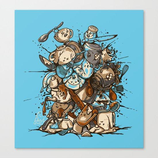 Kitchen Fight Canvas Print