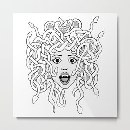 foolish medusa (b&w) Metal Print