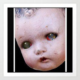 Red-Eyed Mentalembellisher Halloween Doll Art Print