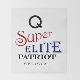 Q Super Elite WWG1WGA Patriot Throw Blanket