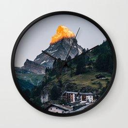Beautiful Matterhorn in Sunrise Wall Clock