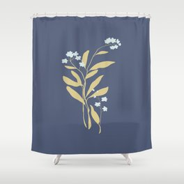 Forget Me Nots 3 Shower Curtain