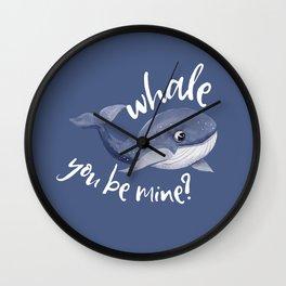 Whale you be mine Wall Clock