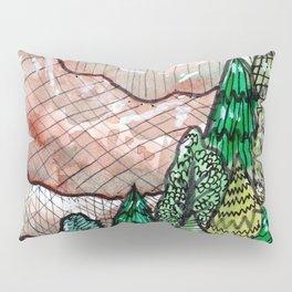 landscape forest montain pines Pillow Sham
