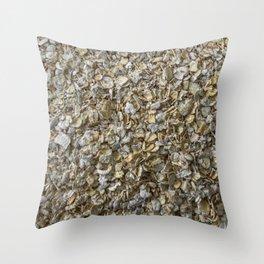 Top view shot of Oatmeal texture. Throw Pillow