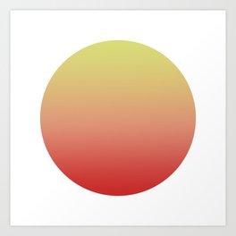Sunrise Round Art Print