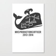 MHS Theatre Officer Shirt 2 Canvas Print
