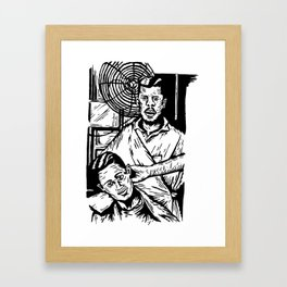 Pacific Gold Barbershop Dos  Framed Art Print
