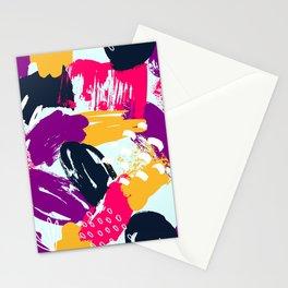 Trendy Multi Colored Paint Splash Pattern Stationery Cards