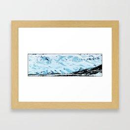 The glacier, Sólheimajökull Framed Art Print