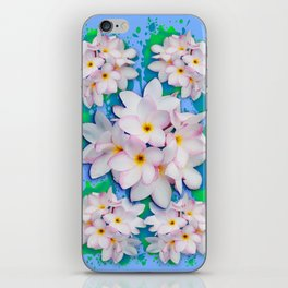 Plumeria Bouquet Exotic Summer Pattern iPhone Skin
