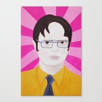 dwight Canvas Prints featuring Dwight by kate gabrielle
