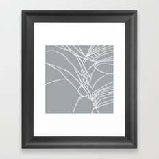 Cracked White on Grey Framed Art Print