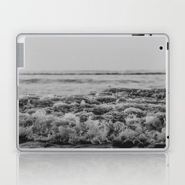Black and White Pacific Ocean Waves Laptop & iPad Skin