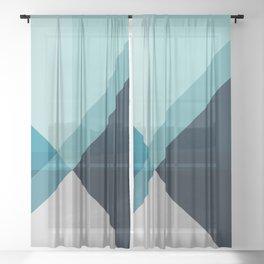 Geometric 1704 Sheer Curtain