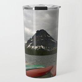 Two Medicine Lake With Sinopah Mountain Travel Mug