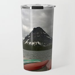 Two Medicine Lake With Sinopah Mountain Travel Mug