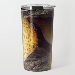 Twin Mushrooms on a Tree Travel Mug