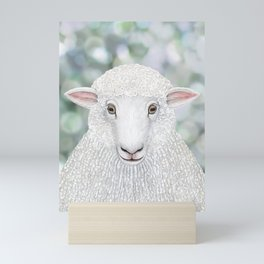 Corriedale sheep farm animal portrait Mini Art Print