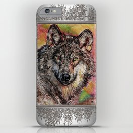 Portrait of a Gray Wolf iPhone Case