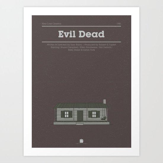 Horror Film Houses 03 Art Print