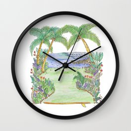 Costa Rica Surf Art Pan Dulce  Wall Clock
