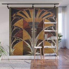 Art nouveau,Original wood work, elevator door, NYC Building Wall Mural