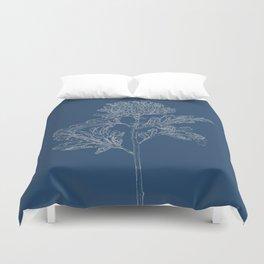 Chrysanthemum Blueprint Duvet Cover