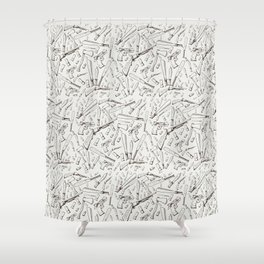 Apocalyptic Weapons  Shower Curtain